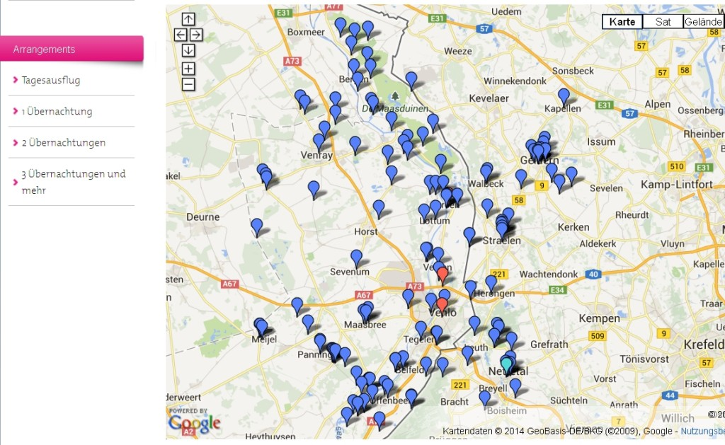 Karte mit E-Bike-Ladestationen auf www.entdecke-den-unterschied.eu/e-bike-ohne-grenzen