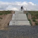 Von Büderich sind die Deichwege nur über Treppen erreichbar