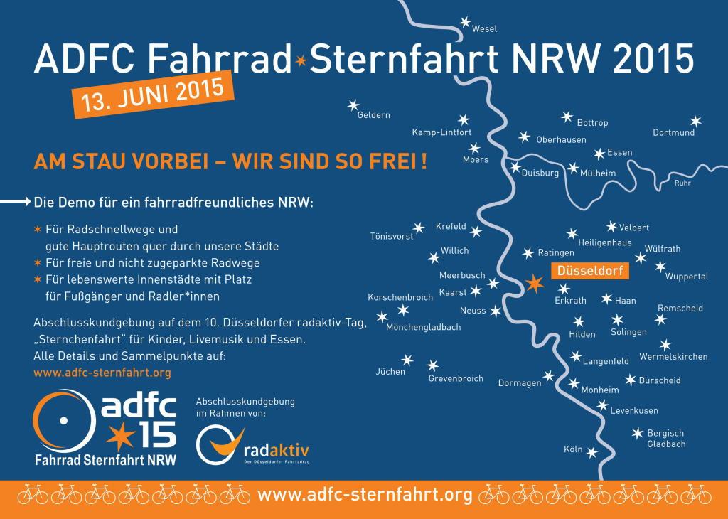 ADFC Fahrrad-Sternfahrt Düsseldorf