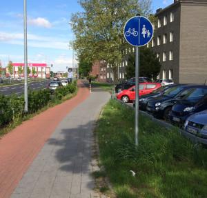 Zeichen 241: Getrennter Fuß- und Radweg