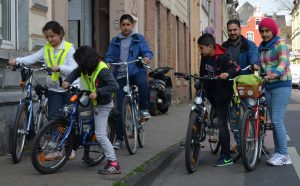 Erster Ausflug mit aufbereiteten Spendenfahrrädern Foto: Karl-Heinz Renner