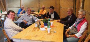 Geselliges Beisammensein beim Treffen im Tuppenhof